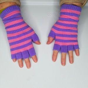 Fingerless Gloves Women Girly Girl Pink Purple Str